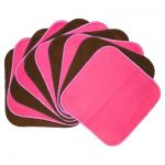 Hot Pink and Chocolate Cloth Wipes